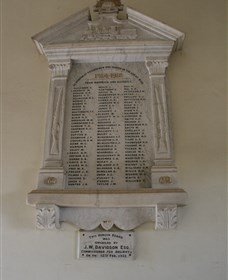 Warwick Railway Memorial Honour Board