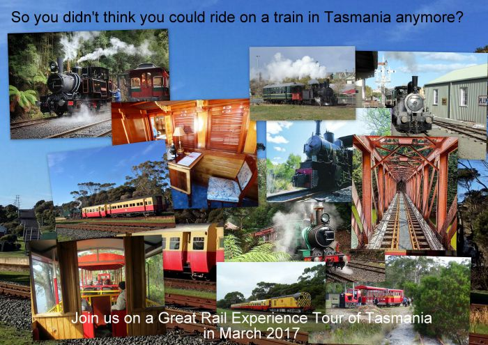 Great Rail Experiences  Tasmania Tour 2017